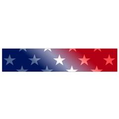 America Patriotic Red White Blue Small Flano Scarf