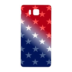 America Patriotic Red White Blue Samsung Galaxy Alpha Hardshell Back Case by BangZart