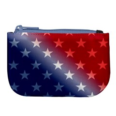 America Patriotic Red White Blue Large Coin Purse by BangZart