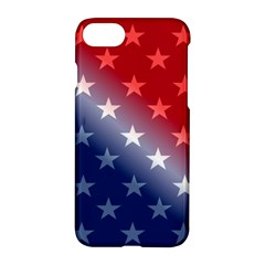 America Patriotic Red White Blue Apple Iphone 7 Hardshell Case by BangZart