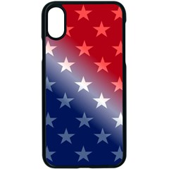 America Patriotic Red White Blue Apple Iphone X Seamless Case (black) by BangZart