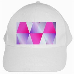 Gradient Geometric Shiny Light White Cap