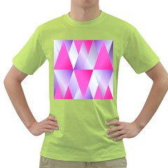 Gradient Geometric Shiny Light Green T Shirt by BangZart