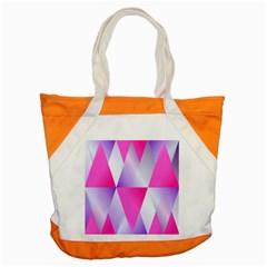 Gradient Geometric Shiny Light Accent Tote Bag