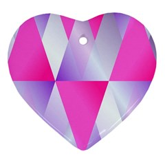 Gradient Geometric Shiny Light Heart Ornament (two Sides) by BangZart