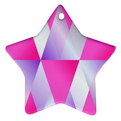 Gradient Geometric Shiny Light Star Ornament (two Sides)