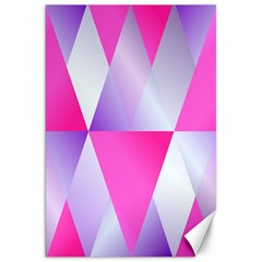 Gradient Geometric Shiny Light Canvas 20  X 30