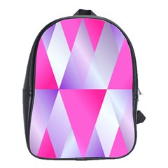Gradient Geometric Shiny Light School Bag (large)