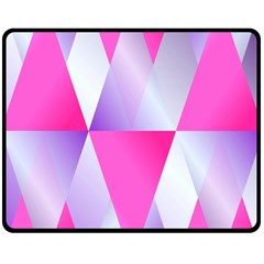 Gradient Geometric Shiny Light Double Sided Fleece Blanket (medium)