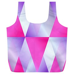 Gradient Geometric Shiny Light Full Print Recycle Bags (l)