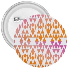 Geometric Abstract Orange Purple 3  Buttons by BangZart