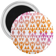 Geometric Abstract Orange Purple 3  Magnets by BangZart