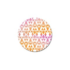 Geometric Abstract Orange Purple Golf Ball Marker