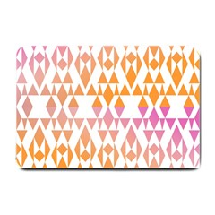 Geometric Abstract Orange Purple Small Doormat