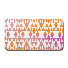 Geometric Abstract Orange Purple Medium Bar Mats by BangZart