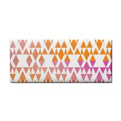 Geometric Abstract Orange Purple Cosmetic Storage Cases