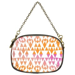 Geometric Abstract Orange Purple Chain Purses (two Sides)