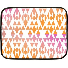 Geometric Abstract Orange Purple Double Sided Fleece Blanket (mini)
