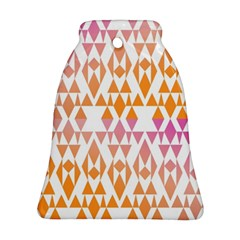 Geometric Abstract Orange Purple Bell Ornament (two Sides)