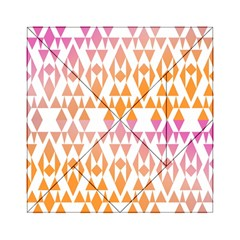 Geometric Abstract Orange Purple Acrylic Tangram Puzzle (6  X 6 ) by BangZart