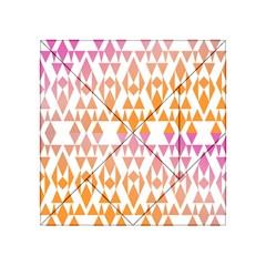 Geometric Abstract Orange Purple Acrylic Tangram Puzzle (4  X 4 ) by BangZart