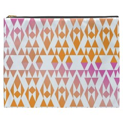 Geometric Abstract Orange Purple Cosmetic Bag (xxxl)