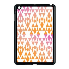 Geometric Abstract Orange Purple Apple Ipad Mini Case (black) by BangZart