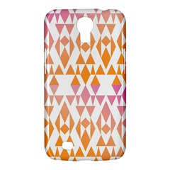 Geometric Abstract Orange Purple Samsung Galaxy Mega 6 3  I9200 Hardshell Case