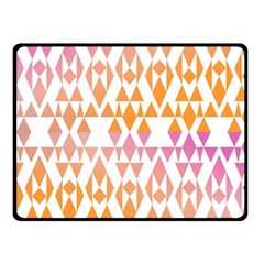 Geometric Abstract Orange Purple Double Sided Fleece Blanket (small)  by BangZart