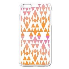 Geometric Abstract Orange Purple Apple Iphone 6 Plus/6s Plus Enamel White Case