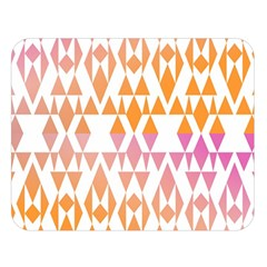 Geometric Abstract Orange Purple Double Sided Flano Blanket (large)
