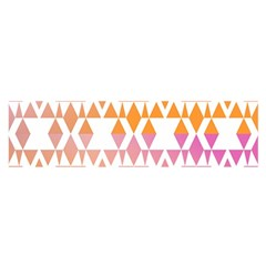 Geometric Abstract Orange Purple Satin Scarf (oblong)