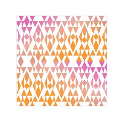 Geometric Abstract Orange Purple Small Satin Scarf (square) by BangZart