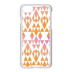 Geometric Abstract Orange Purple Apple Iphone 7 Seamless Case (white)