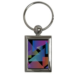 Triangle Gradient Abstract Geometry Key Chains (rectangle)