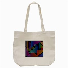 Triangle Gradient Abstract Geometry Tote Bag (cream)