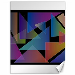 Triangle Gradient Abstract Geometry Canvas 36  X 48