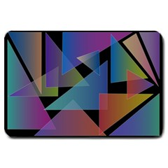 Triangle Gradient Abstract Geometry Large Doormat