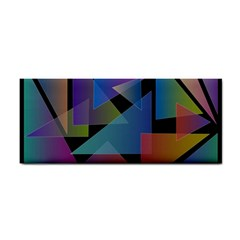 Triangle Gradient Abstract Geometry Cosmetic Storage Cases by BangZart
