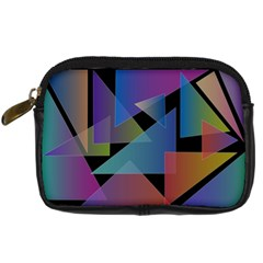 Triangle Gradient Abstract Geometry Digital Camera Cases