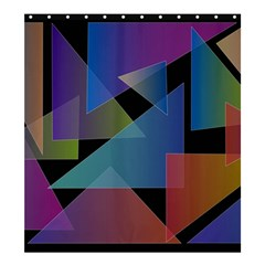 Triangle Gradient Abstract Geometry Shower Curtain 66  X 72  (large)