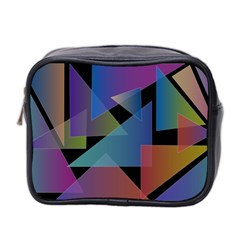 Triangle Gradient Abstract Geometry Mini Toiletries Bag 2 Side by BangZart