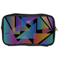 Triangle Gradient Abstract Geometry Toiletries Bags