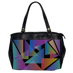 Triangle Gradient Abstract Geometry Office Handbags (2 Sides)
