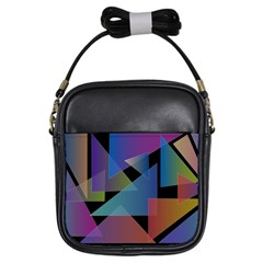 Triangle Gradient Abstract Geometry Girls Sling Bags