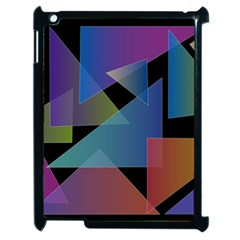 Triangle Gradient Abstract Geometry Apple Ipad 2 Case (black)