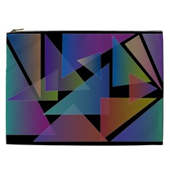 Triangle Gradient Abstract Geometry Cosmetic Bag (xxl)