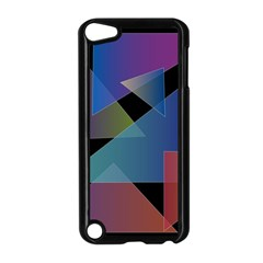 Triangle Gradient Abstract Geometry Apple Ipod Touch 5 Case (black)