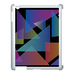Triangle Gradient Abstract Geometry Apple Ipad 3/4 Case (white) by BangZart