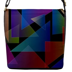 Triangle Gradient Abstract Geometry Flap Messenger Bag (s) by BangZart